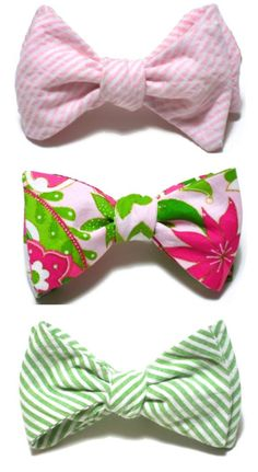 i love bow ties in general, but lilly bow ties just make it even better