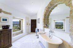 Corner Bathtub, Provence, Home Goods, Nice Houses, Bathroom, Washroom, Beautiful Homes, Full Bath, Bath