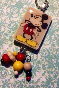 Mickey Mouse Pendant Necklace  Vintage Iconic by JensJunqueDrawer