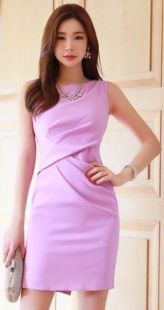 "StyleOnme_Drape Detail Sleeveless Dress #pink explore Pinterest""> #pink #sleeveless explore Pinterest""> #sleeveless #dress explore… - #moldes #dicas #moda"
