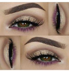 Pop of Purple Eye Makeup Designs, Eye Makeup Art, Beauty Makeup, Hair Makeup, Gorgeous Makeup, Love Makeup, Makeup Inspo, Makeup Inspiration, Makeup Goals