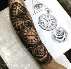 "Gefällt 3,010 Mal, 13 Kommentare - Best Tattoos (@best.tattoo.styles) auf Instagram: ""Artist: @tattoolucas ➖➖➖➖➖➖➖➖➖➖➖ ⚜️FOLLOW⚜️ @best.tattoo.styles for daily tattoos! Sharing only the…"" Forarm Tattoos, Forearm Sleeve Tattoos, Best Sleeve Tattoos, Dope Tattoos, Tattoo Sleeve Designs, Tattoo Designs Men, Body Art Tattoos, Rose Tattoos For Men, Half Sleeve Tattoos For Guys"