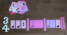Activity cards to help students visualize the number of beats in basic note and rest values