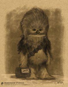 Des personnages cultes en version bébé - Chewbacca