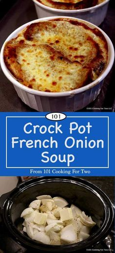Easy Crock Pot French Onion Soup Oh so simple and oh so good. Better than restaurant quality, this Crock Pot French Onion Soup is an elegant classic soup for everyday or special meals. Crock Pot Slow Cooker, Crock Pot Cooking, Slow Cooker Recipes, Cooking Recipes, Crock Pot Soup Recipes, Cooking Tips, Cooking Pork, Crockpot Meals, Crockpot French Onion Soup