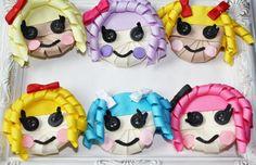 Lalaloopsy Bow. Purple Rag Doll. Pink Rag Doll.  Inspired Lala Loopsy Ribbon Sculpture Clip. Free Ship Promo.. $5.50, via Etsy.
