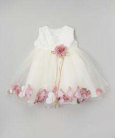 Loving this Ivory & Rose Petal Satin Babydoll Dress on #zulily! #zulilyfinds