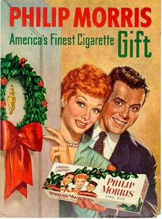 Philip Morris is another cigarette brand that was promoted for Christmas. In this version,. ads These vintage Christmas adverts will make you VERY nostalgic 1950s Advertising, Old Advertisements, Advertising Poster, Advertising History, Funny Vintage Ads, Vintage Humor, Vintage Images, Vintage Cigarette Ads, Cigarette Brands
