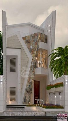 3d House Plans, Model House Plan, Duplex Design, Townhouse Designs, House Front Design, Modern House Design, Style At Home, Modern Bungalow House, Ultra Modern Homes
