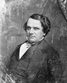 Senator Stephen A. Douglas - 7th cousin 5 generations removed - (1813-1861). Politician best known for his debates with future President Abraham Lincoln. Served as Democratic Congressman from Illinois, 1843-1847; Senator, 1847-1861