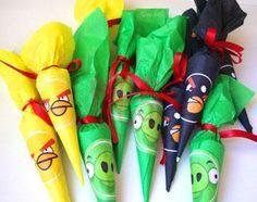 Paraguitas personalizados Angry Birds x 10