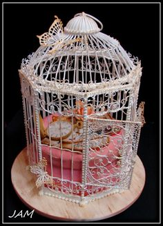 birdcage with Royal icing