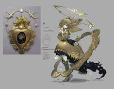 This specific piece of metalwork art -chan Female Character Design, Character Design References, Character Drawing, Character Design Inspiration, Character Concept, Concept Art, Poses References, Fantasy Characters, Art Reference
