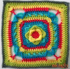 Transcendent Crochet a Solid Granny Square Ideas. Inconceivable Crochet a Solid Granny Square Ideas. Crochet Blocks, Granny Square Crochet Pattern, Crochet Squares, Crochet Granny, Crochet Motif, Crochet Designs, Granny Squares, Crochet Patterns, Crochet Afghans