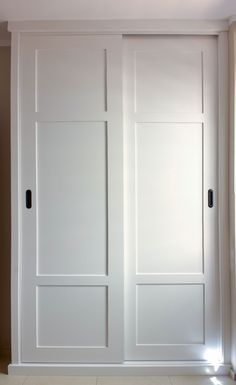 Paneled Bi-Fold Closet Door DIY - Room For TuesdayPaneled Bi-Fold Closet Door DIY - Room For TuesdayCloset Door Ideas: 3 Unique Ways to Dress Up Bedroom Closet Doors!One of my favorite closet door ideas in Bedroom Closet Doors Sliding, Master Bedroom Closet, Bedroom Wardrobe, Built In Wardrobe, Wardrobes With Sliding Doors, Modern Closet Doors, Glass Closet Doors, Closet Door Makeover, Cupboard Doors Makeover