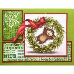 Wreath Rolling Rubber Stamp