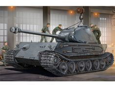 The Hobby Boss German VK4502(p) Hintern in 1/35 scale from the plastic tank model range accurately recreates the real life German prototype tank design from World War II. This plastic tank kit requires paint and glue to complete.