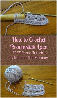 Learn how to crochet beautiful broomstick lace in no time with my FREE photo tutorial!