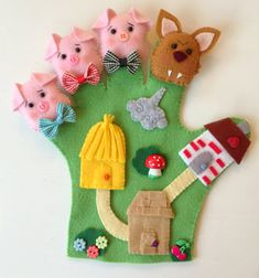 READY TO SHIP  The 3 Little Pigs and the Wolf by LePetitAtelierAna