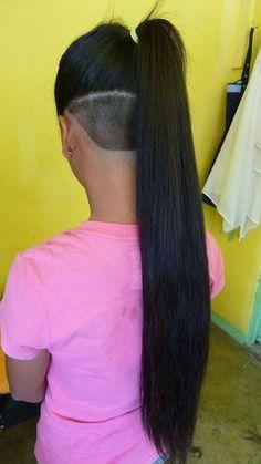 Nape-Undercut-Long-Longs-with-Undercut | Sydney96 | Flickr Nape Undercut, Shaved Undercut, Undercut Styles, Shaved Nape, Shaved Sides, Undercut Hairstyles Women, Undercut Women, Pompadour Hairstyle, Cool Hairstyles