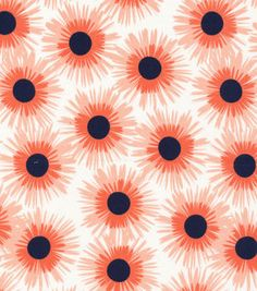Cloud 9 Premium Quilt Fabric Asters Coral