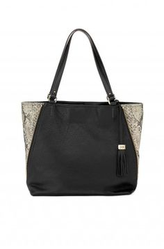 Stella & Dot The Switch - Black Leather/Snake