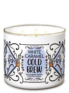 Bath & Body Works Large White Caramel Cold Brew Scented Candles Brand New Bath Candles, Mini Candles, 3 Wick Candles, Scented Candles, Homemade Candles, Smelly Candles, Candle Jars, Bath Body Works, Romantic Candles