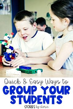 Have you ever asked your students to find a partner?  I have and the same problems arise year after year.  So now I have five quick and easy ways to group my students using supplies I already have in the classroom.