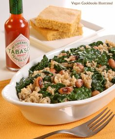 Vegan Hoppin John with Kale from the cookbook One-Dish Vegan