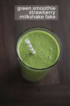 green smoothie strawberry milkshake fake recipe!