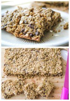 Barritas de granola con chispas de chocolate: | 20 Maneras diferentes de hacer galletas con chispas de chocolate