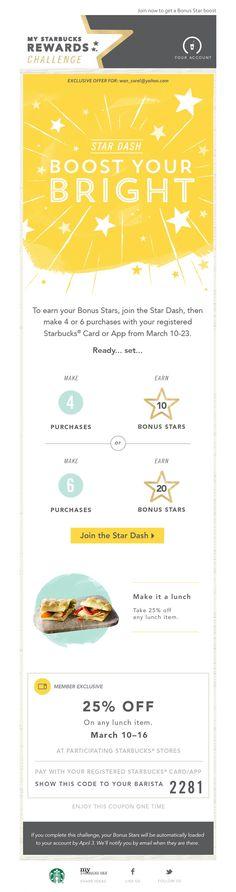 Starbucks Star Dash: Boost Your Bright