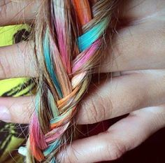 Hair Chalk- Very cool idea for fun and safe way to experiment with hair color