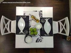 mesa comedor extensible para salon o cocina que podemos abrir y se realiza a medida en Home, Consoles, Wood, Ad Home, Homes, Haus, Houses