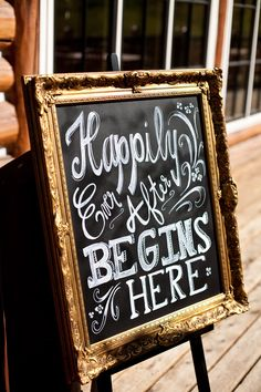 Chalk Board Signs with gold frame @Christine Ballisty Ballisty Ballisty Maxwell can we still do chalk signs??