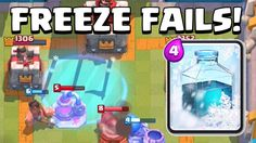 Clash Royale | FUNNY FREEZE SPELL FAILTAGE | Freeze Spell Fails