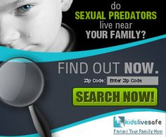Kids Live Safe provides an easy to use database of sex offenders that can be searched by geographic location or even a name search. Use this ..Users can sign up for the 7 day trial of Kids Live Safe - initial cost is $1.00. The trial provides protection tools to help kids stay safe.