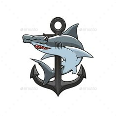 Buy Hammerhead Shark And Anchor Heraldic Icon by VectorTradition on GraphicRiver. Hammer-head Shark and Anchor icon. Vector nautical shield for heraldry template, t-shirt, shield sign Vector Design, Logo Design, Anchor Icon, Icon Check, Shark Pictures, Shark Logo, Blank Business Cards, Hammerhead Shark, Diving Equipment