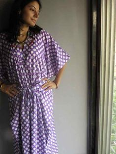 Cozy Kaftan Style made From R7 Fabric Pattern