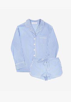 French Stripes Pajama Set with Shorts