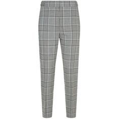 Alexander Wang Check Cigarette Trousers (47.845 RUB) ❤ liked on Polyvore featuring pants, bottoms, white pants, cigarette trousers, slim fitted pants, white slim fit pants and alexander wang
