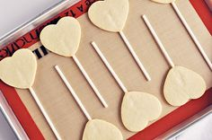 """Steps to Making the Perfect Sugar Cookie (and Cookie Pop) """"Buttery, crisp and classic vanilla, these sugar cookies are ideal for decorating, snacking, tea-time or gifting. If the steps are followed, they will keep their shapes well and won't expand while baking."""""""