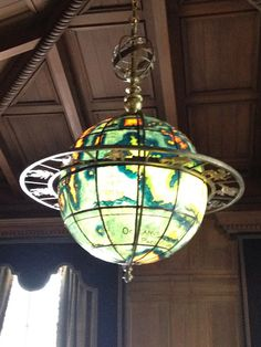 Globe light at the Philbrook in Tulsa, OK