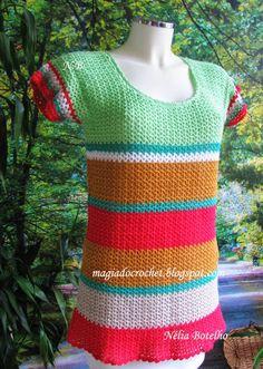 Magia do Crochet: Túnica em crochet para senhora