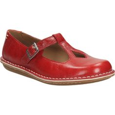 Clarks Women's Tustin Talent Leather Mary Jane Flats - Red: Image 11