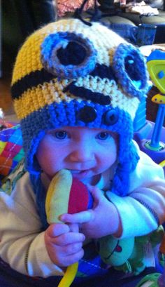 Baby Child Despicable Me Minion Hat on Etsy, $20.00