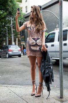 #inverno2013 #streetstyle #style #look #ootd #saopaulo #brasil #animalface #vestido #dress #estilo #lavibh
