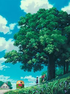 "ghibli-collector: ""Vertical Pan Shots - Kiki's Delivery Service "" Studio Ghibli Background, Animation Background, Art Background, Scenery Wallpaper, Landscape Wallpaper, Landscape Art, Studio Ghibli Art, Studio Ghibli Movies, Studio Art"