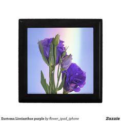 Eustoma Lissianthus purple Trinket Boxes