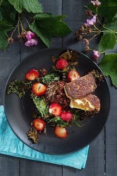 Kvinoa-lehtikaalisalaatti